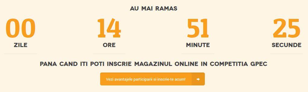 Ultimele ore de inscrieri in Competitia Magazinelor Online GPeC