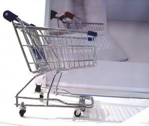 computer shopping cart