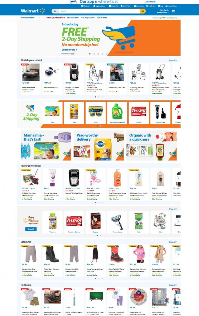 Ierarhia vizuala_Walmart