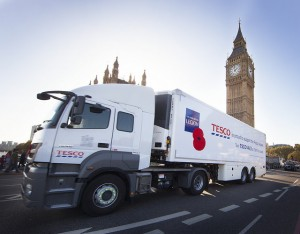 Tesco delivery truck