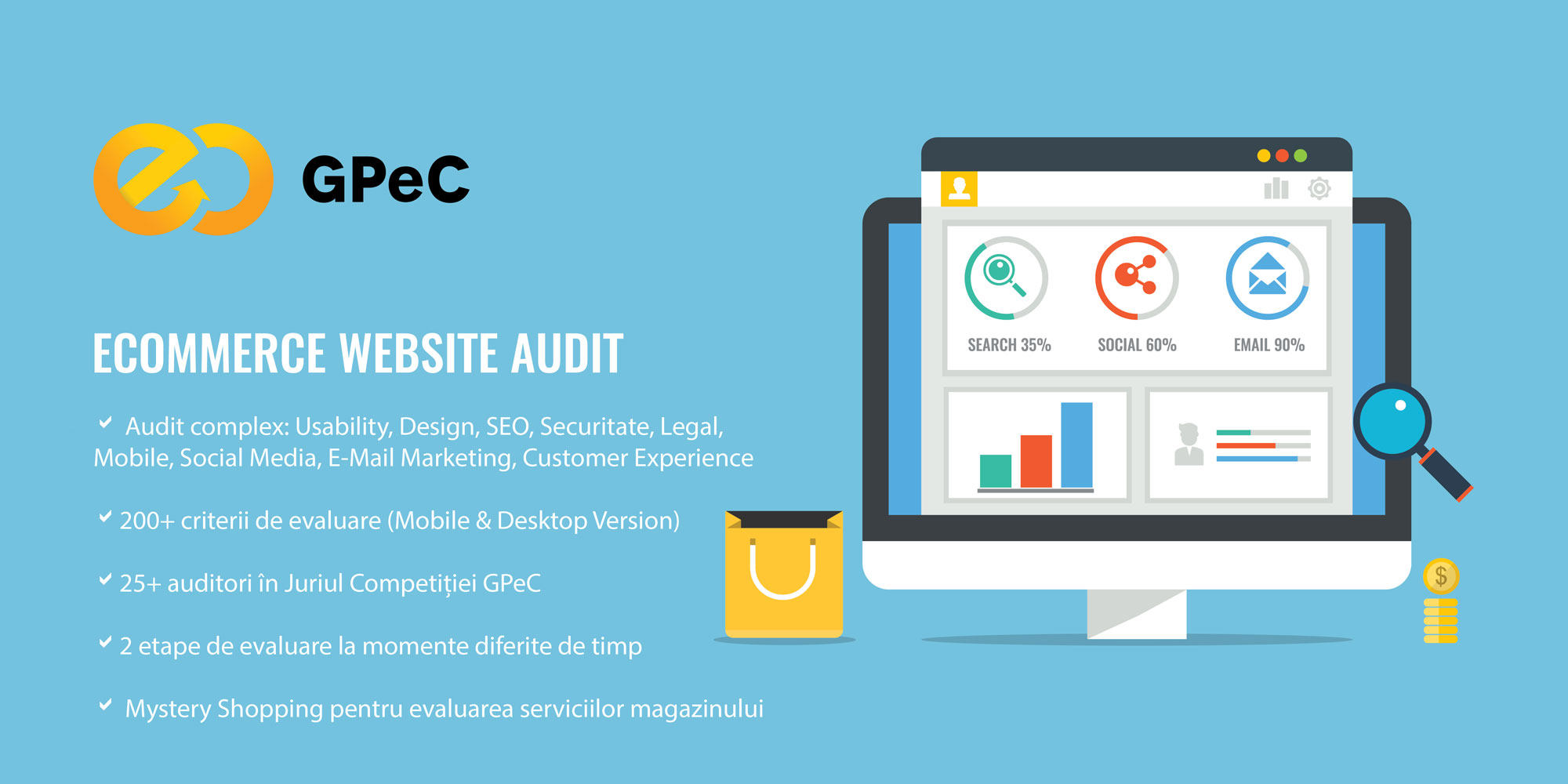Audit de website e-commerce Competitia Magazinelor Online GPeC