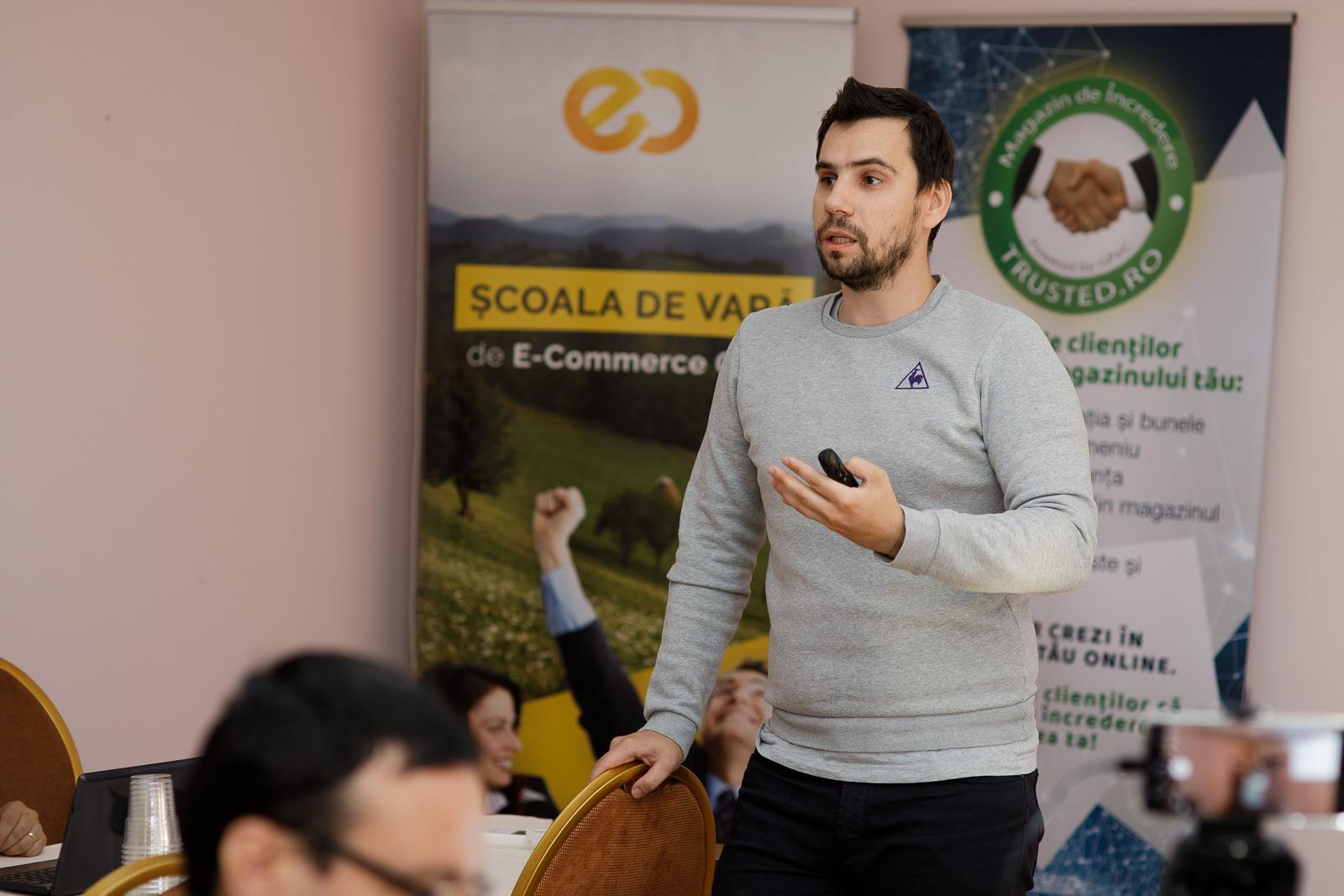 Dragoș Smeu, workshop Google Ads la Școala de Vară GPeC 2018