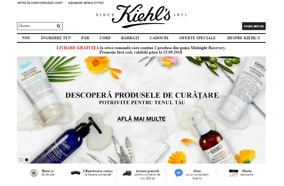 L'Oreal Romania e-commerce website