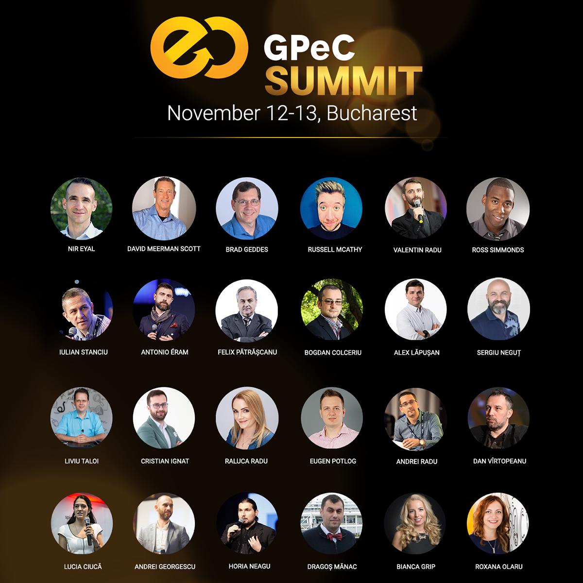 Speakeri GPeC SUMMIT 12-13 Noiembrie Bucuresti