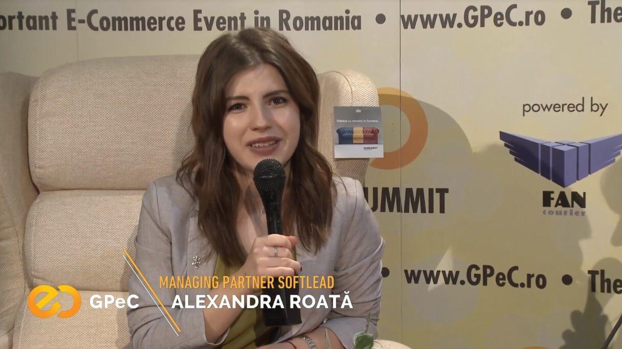 Alexandra Roată (Softlead) interviu la GPeC Summit mai 2018