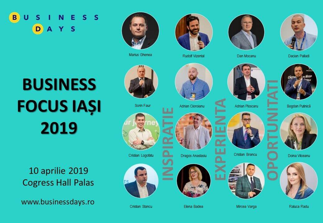 Speakeri Business Focus Iași aprilie 2019