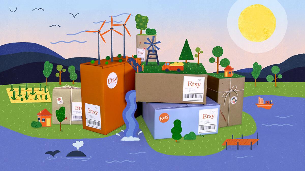 Etsy își reduce 100% amprenta de carbon