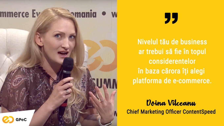 Doina Vîilceanu (ContentSpeed) - Cum îți alegi platforma e-commerce