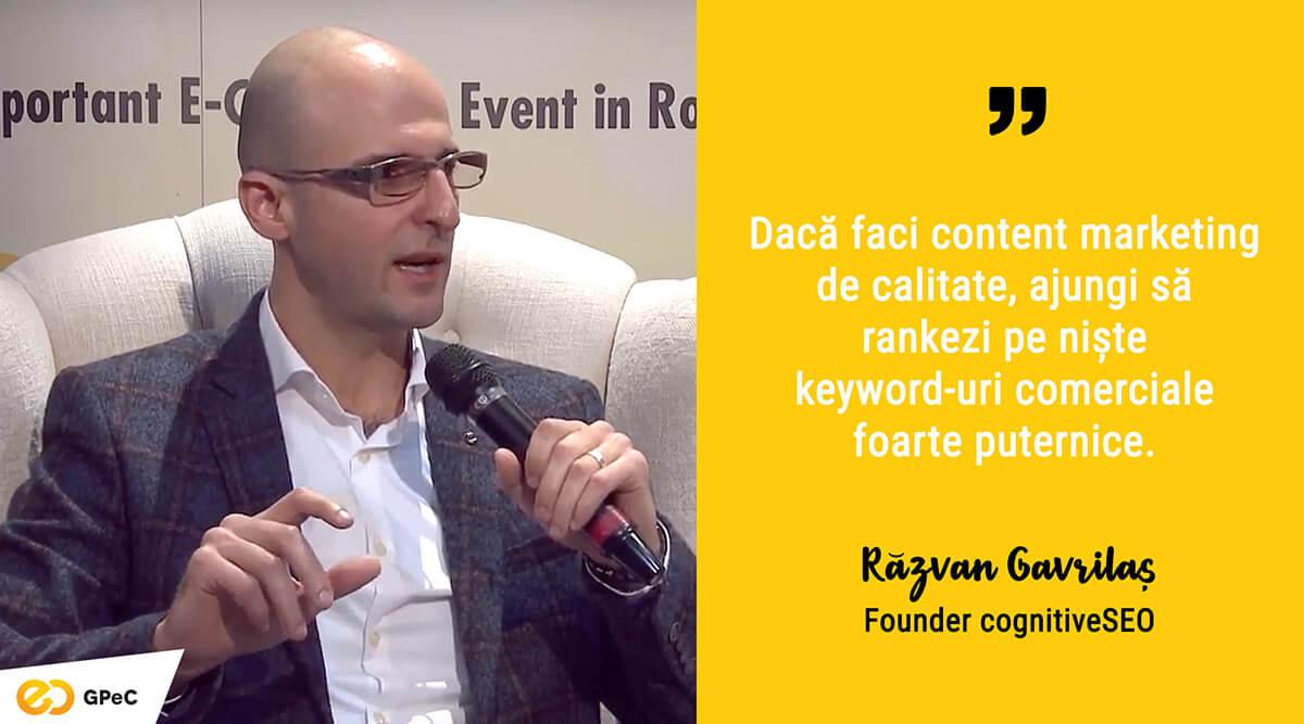 Răzvan Gavrilaș, cognitiveSEO - Content Marketing pentru SEO