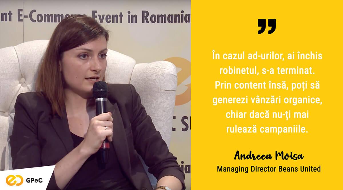 Andreea Moisa, Beans United - Canale de content marketing în 2019