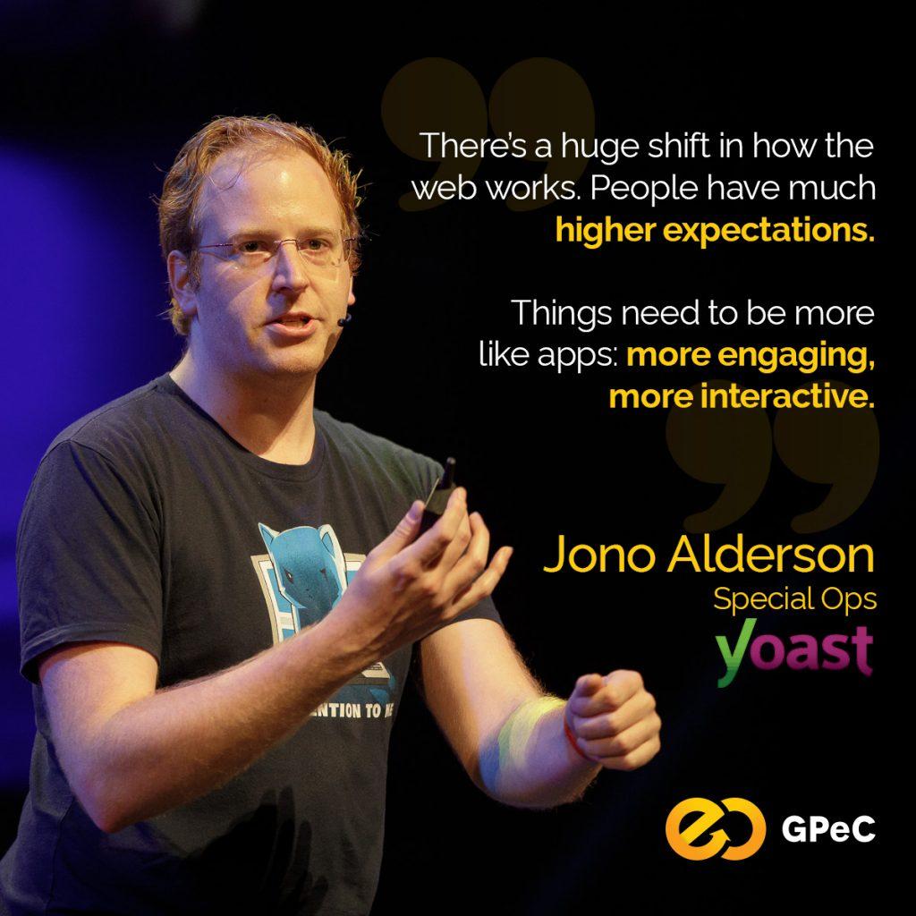 Jono Alderson quote user expectation