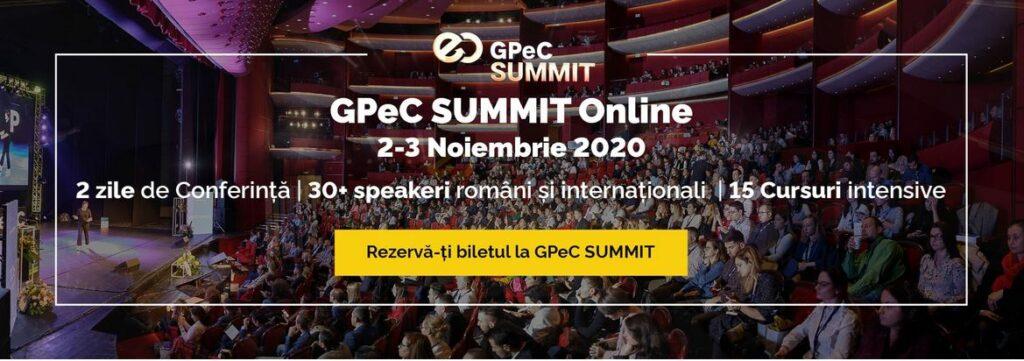 GPeC SUMMIT Online 2-3 Noiembrie 2020 - Evenimentul Anului in E-Commerce si Digital Marketing